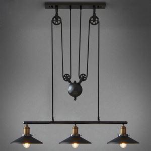 (Entrepôt UE) Lampe Suspendue Vintage/Rustique en Métal