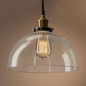 Suspension en verre D30cm luminaire design lampe cuisine couloir intérieure