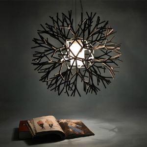 (Entrepôt UE) Suspension design une lumière peinture acrylique de fer luminaire de salon salle à manger