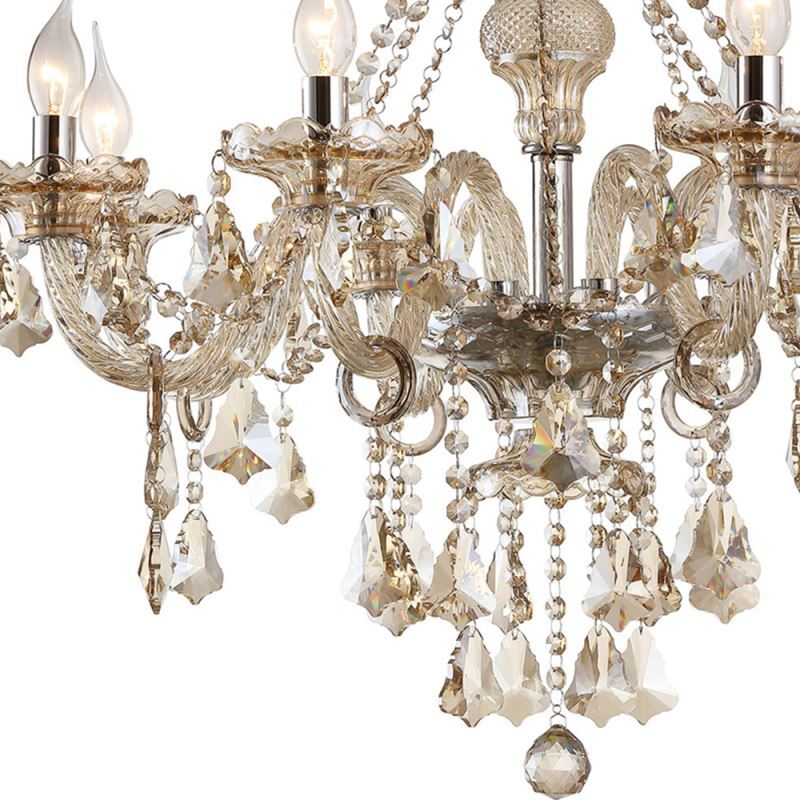lustre baroque cristal 10 lampes d 80 cm cognac grand pour salon pas cher. Black Bedroom Furniture Sets. Home Design Ideas