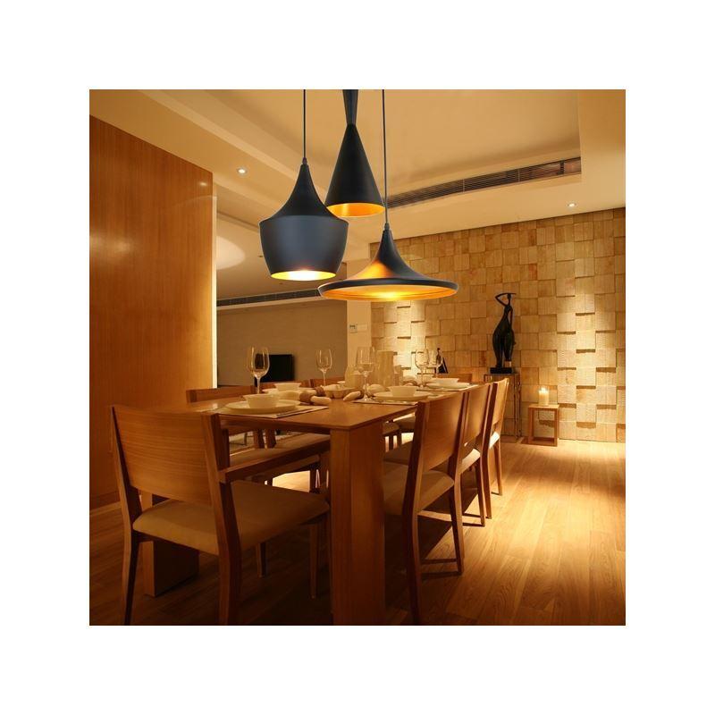 lustre plafonnier 3 lampes l 60 cm noir en aluminium. Black Bedroom Furniture Sets. Home Design Ideas