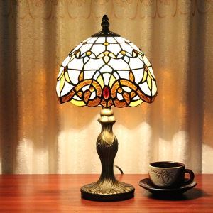 60W Tiffany lampe de table avec 1 lampe