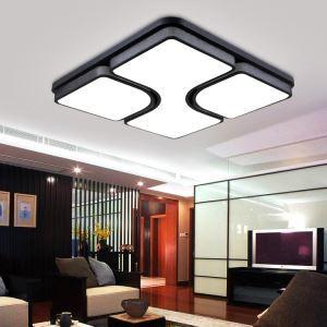 (Entrepôt UE) (En Stock) Moderne Mode simple LED acrylique encastrée Lumière lampe de plafond plafonnier pour Salon d'étude Chambre Salle à manger