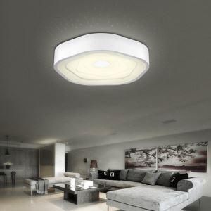 Plafonnier LED rond acrylique D45cm pour salon salle