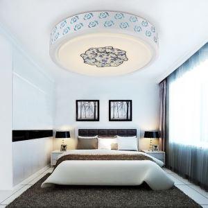 (Entrepôt UE) Plafonnier Moderne mode simple LED acrylique Roude encastrée Lumière Salon étude de Chambre Salle à manger