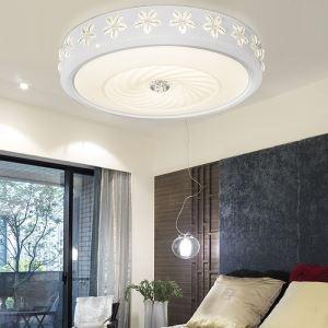 (Entrepôt UE) Plafonnier Moderne mode simple LED acrylique ronde Gravure encastrée Lumière
