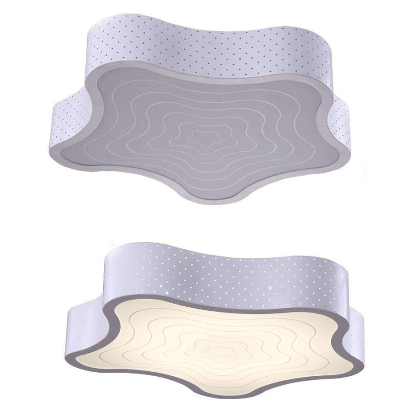 plafonnier moderne acrylique simple led blanche toile de. Black Bedroom Furniture Sets. Home Design Ideas