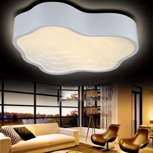 (Entrepôt UE) Moderne mode simple LED acrylique nuage Blanc encastrée Lumière Salon étude de Chambre Salle à manger