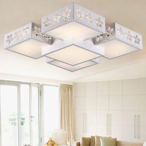 (Entrepôt UE) Plafonnier Moderne mode simple LED acrylique Sakura Place encastrée Lumière luxe luminaire design pour chambre cuisine salle à manger