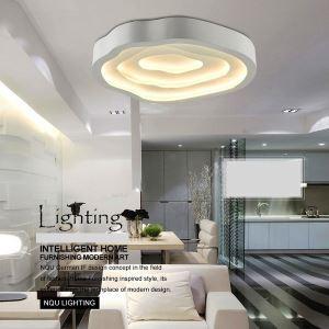 (Entrepôt UE) (En Stock) Moderne Mode simple LED Acrylique lustre plafonnier Blanche encastrée Lumière Salon Chambre Salle d'étude Salle à manger