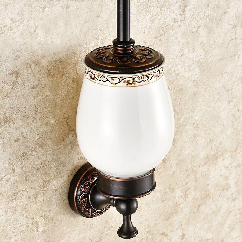 Bain porte brosse toilette entrep t ue salle de for Accessoire salle de bain cuivre