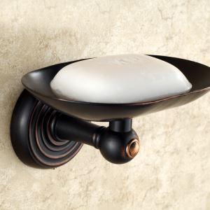 (Entrepôt UE) Salle de bains antique Support européen de savon Accessoires Cuivre ORB
