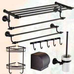 (Entrepôt UE) Cuivre Antique européen ORB 6-pièces accessoires de salle de bain