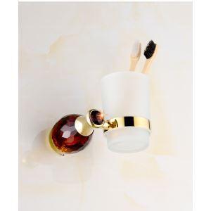 Salle de bain de style européen Titulaire Accessoires brosse à dents avec 4 couleurs de cristal