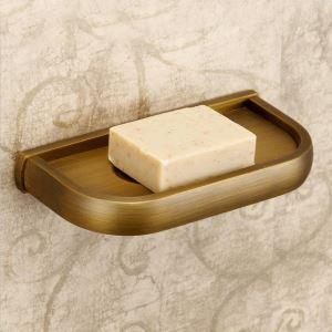 (Entrepôt UE) Salle de bains antique Support européen Cuivre Accessoires porte-savon