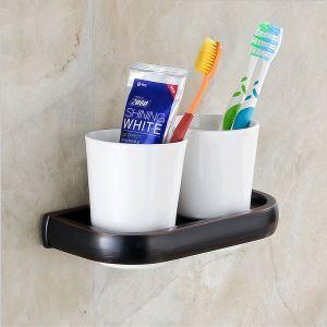 (Entrepôt UE) Salle de bains antique Support européen Cuivre Accessoires ORB Brosse à dents