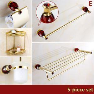 Style européen cristal rouge bains Accessoires