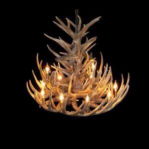 Rustique Cascade Ramure en Vedette Lustre avec 12 Lumières