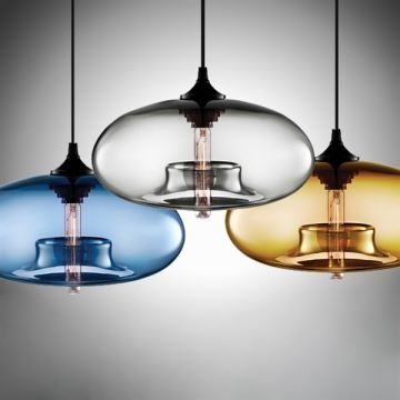 Lustre en verre d28cm moderne d coratif suspension en for Luminaire suspension cuisine moderne