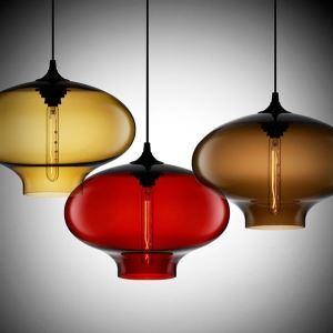 (Entrepôt UE) (En Stock) 40W moderne lumière pendentif en verre dans la conception de bulle