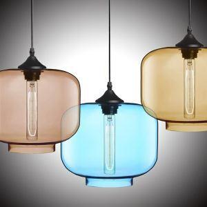 Lustre en Verre lampe pendentif simple moderne en forme de bouteille