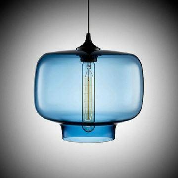 Lustre bleu for Lustre double suspension
