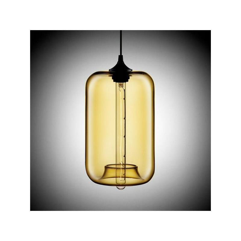 Suspension en verre colonne h34cm pour salle cuisine for Suspension verre pour cuisine