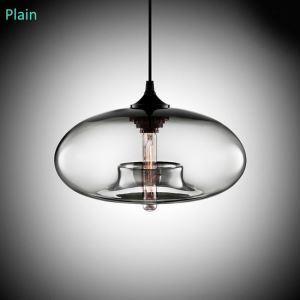 (En Stock) Moderne, En verre soufflé à la main Lustre coloré en forme de balle avec 1 Lumière transparent