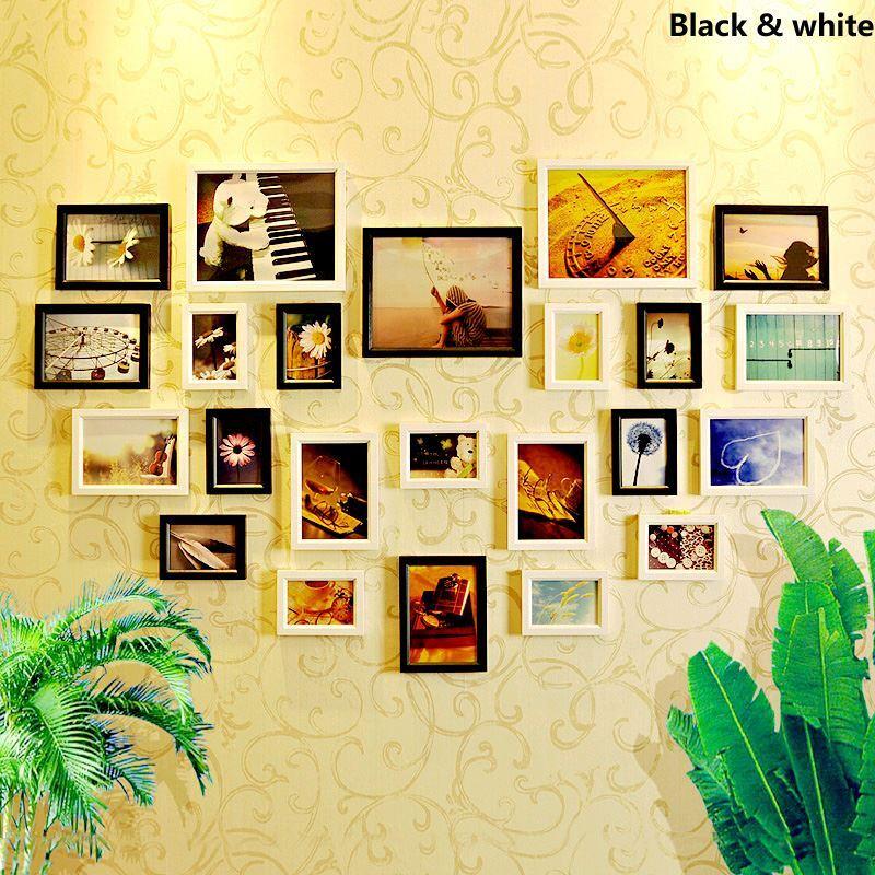 D cor cadre photo entrep t ue style europ en cadre for Cadre photo mural bois