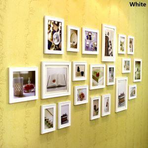 Style européen Cadre de photo mural Collection en bois - Ensemble de 20 pièces