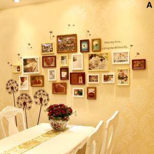 (Entrepôt UE) Nordique Cadre de photo Collection en bois mural - Ensemble de 23 pièces pour chambre à coucher