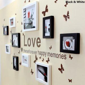 (Entrepôt UE) Moderne Cadre de photo Collection en Bois Mural - Set à 10 pièces