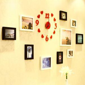 (Entrepôt UE) Campagne américaine en Bois Cadre de photo mural Collection - ensemble 10 pièces