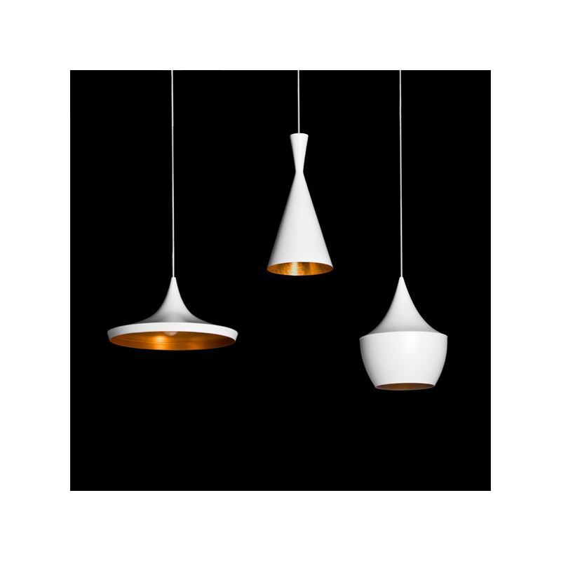 Lustre plafonnier 3 lampes suspensions style industriel for Lampe suspension blanche