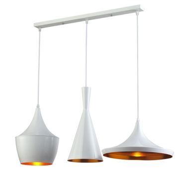 Lustre Plafonnier à 3 Lampes Suspensions Style Industriel En