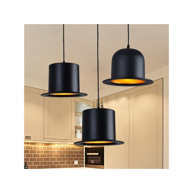 lustre design suspension aluminium lampe noir en forme de. Black Bedroom Furniture Sets. Home Design Ideas