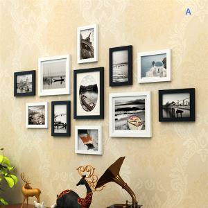 (Entrepôt UE) Moderne simple Cadre de photo murale ensemble-Lot de 11