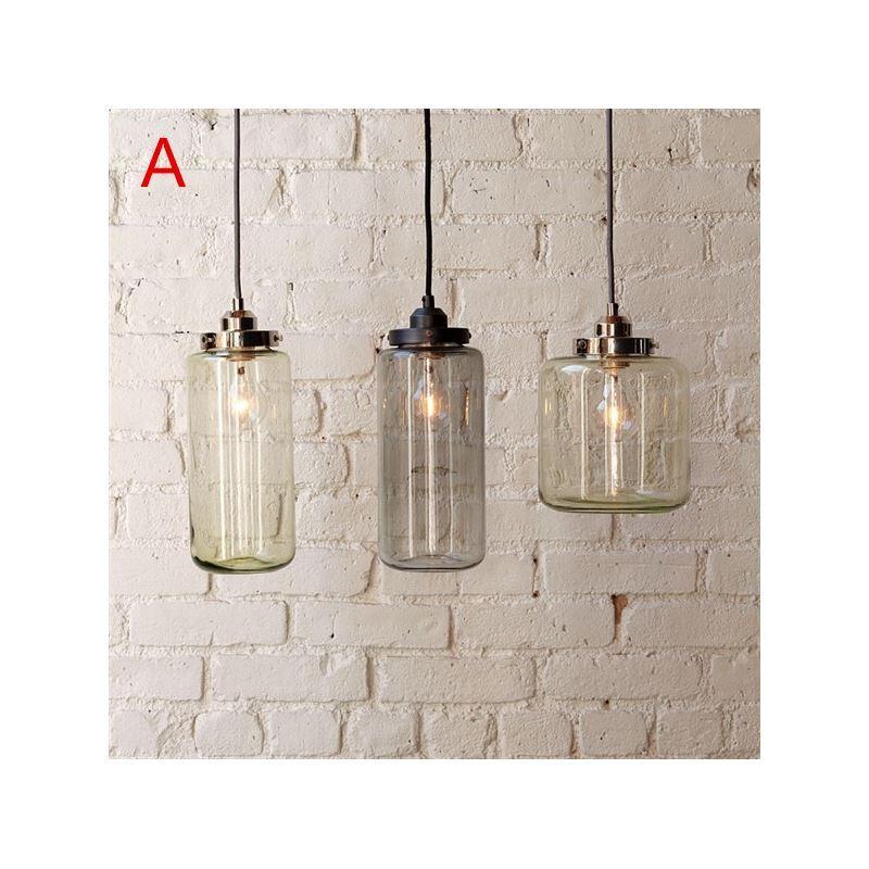 Suspension 3 lampes 60w e27 en verre pour salle manger - Suspension 3 lampes pour cuisine ...