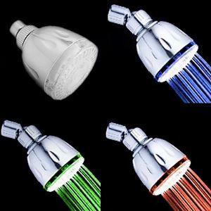 (Entrepôt UE) Chromé  Contemporain Pluie Thermochromique LED pomme de douche
