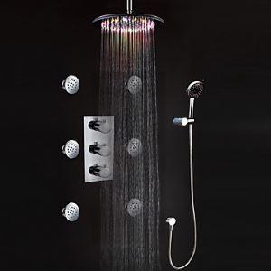 Colonne de douche LED luxe pour salle de bains