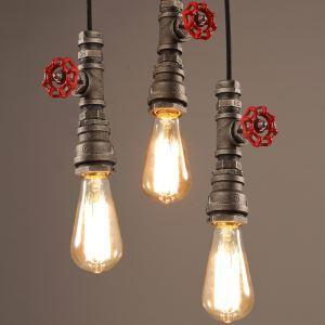 (Entrepôt UE) Lustre Simple Mini Style Rustique Rétro pour salle chambre suspension luminaire cuisine
