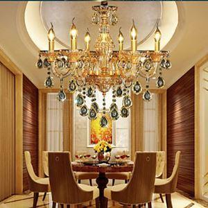 Style Moderne Contemporain Lustre Cheteliers Cristal LED 6 lumières pour Salle Chambre
