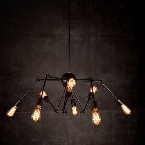 Lustre à 8 lampes luminaire design pour salle cuisine style industriel