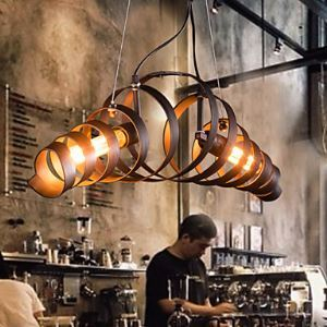 (Entrepôt UE) Rétro Bar Fer à repasser Lampe Moderne Minimaliste Style Industriel lustre