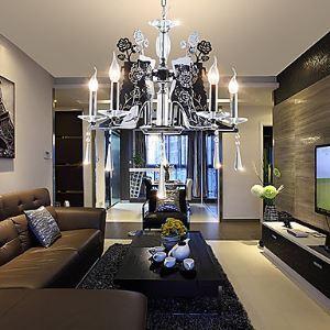Style Moderne Cheteliers Lustre en forme de papillon noir 5 lumières pour Salle chambre