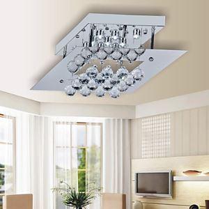 9W LED plafond Lampe Carré Plate Cristal parlé Conception