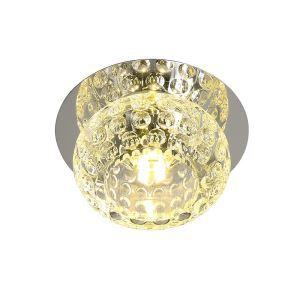 Livraison gratuite plafonnier cristal rond D 10 cm pour couloir salle