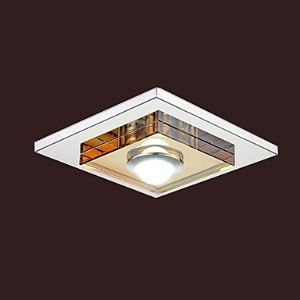 (Entrepôt UE) 3W Led Ambre Cristal plafond Lampe, 1 Lampe, installation intégrée
