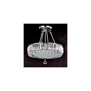 Plafonnier cristal à 6 lumières pour chambre salle