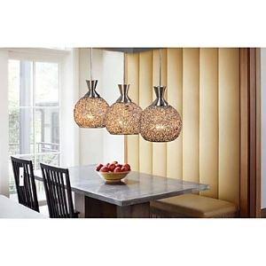 Lustre à 3 lampes LED en métal pour salle à manger